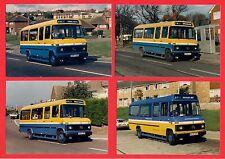 4 Photos ~ Hastings & District - Mercedes L608D Minibuses D947UDY etc - 1987-90