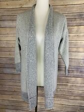 Soft Surroundings Small Open Front Cardigan Duster Checkered Pattern Grandpa