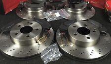 MERCEDES C200 C220 C230 CDI W204 frein à disque ventilé forés plaquettes de Frein Chaussures Arrière