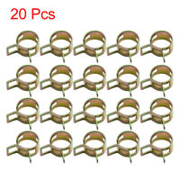 20pcs 14.5mm Car Fuel Line Spring Clips Water Pipe Air Tube Clamps Hose Fastener