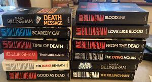 Job lot collection X 12 Mark Billingham adult fiction books