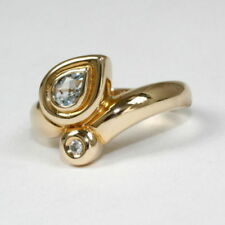 Anelli di lusso con gemme in oro giallo misura anello 17 Diamante