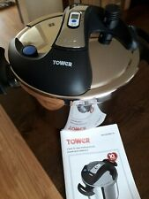 TOWER 6 LITRE STAINLESS STEEL ONE TOUCH PRESSURE COOKER