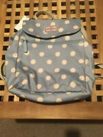 Cath Kidston Baby Blue Spot Oilcloth Backpack Rucksack Bag BNWT