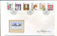 Isle of Man-Christmas set on Signed first Day Cover