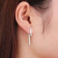 -UK- Silver Plated Simple T Bar Stud Earrings Jewellery for Women Gifts