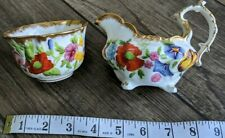 More details for hammersley queen anne chintz  cream or milk jug and sugar bowl