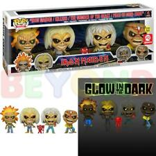 Funko Pop! Rocks: Iron Maiden (Glow in the Dark!) 4-Pack Collector's Set A.E. Ex