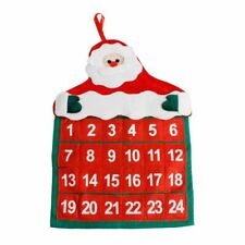Santa Claus Advent Calendars Home Office Christmas Decor Hanging Calendar Fabric