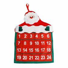Santa Claus Advent Calendars Home Office Christmas Decor Hanging Calendar Fabric