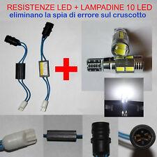 LUCI POSIZIONE FIAT GRANDE PUNTO KIT RESISTENZE + LAMPADINE 10 LED W5W NO ERRORE