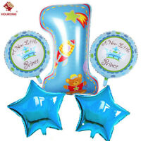 1st Happy Birthday Balloons Baby Boy Girl First Party Decoration Ballons 5Pcs