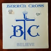 "Barren Cross ""Believe"" vinyl EP (RARE) Remastered Edition. Blue Vinyl. 1985"