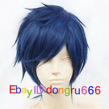 Rei Ryugazaki Short Blue Black Mix Cosplay Wig + Free wig cap