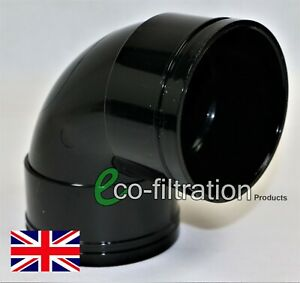"""82MM/3"""" SOLVENT WELD KNUCKLE BEND KOI FISH POND PUMP FILTER TANK PIPE FITTING"""