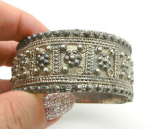 Vintage 800 Silver-Egyptian- Cuff Bangle Bracelet CIRCA 1933