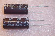 QTY(3) 2200uf 50V 105' RADIAL ALUMINUM ELECTROLYTIC CAPACITOR 228CKE050M ILL CAP