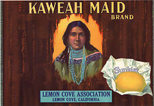 *Original* KAWEAH MAID Indian Turquoise Beads Jewelry Lemon Label NOT A COPY!