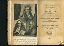 Prose Works of John Dryden,4 Vol., Edmond Malone, 1800