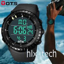 OTS Men Luxury Sport Wrist Watch LED Digital Military Silicone Army Waterproof