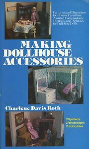 Making Dollhouse Accessories - 110 Patterns / Scarce Illustrated Book