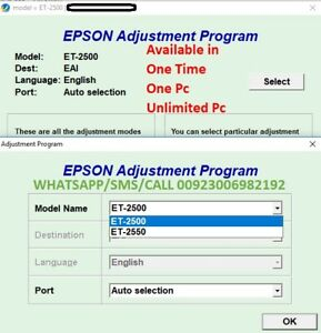 Epson Reset All Model Ink Pad Resetter Adjustment Software Available