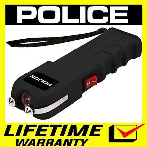 POLICE Stun Gun 928 650 BV Black Heavy Duty Rechargeable LED Flashlight