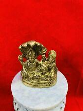 Brass metal  lord vishnu and lakshmi laxmi 2.7 inch height  USA Seller fast ship
