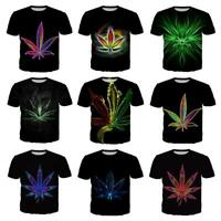 WEED LEAF 3D print Women'S/men's Short Sleeve Casual Tops T-Shirts