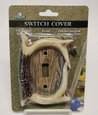 Rivers Edge Deer Antler Single Switch Cover Electrical Plate NEW Polyresin 2008