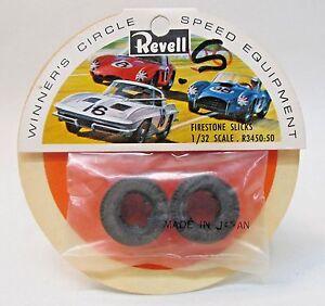 Revell R3450 FIRESTONE SLICKS 1:32 pair of slot car tires MINT in package