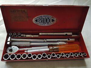 """Collectable Vintage Britool No.63 Socket Set 1/4"""" Sq. in Original Box"""