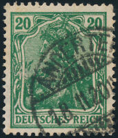 DR 1920, MiNr. 143 c, sauber gestempelt, gepr. Infla, Mi. 130,-