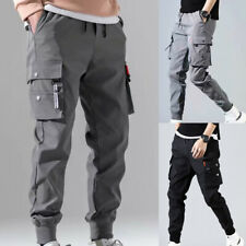 Men Harem Pants Casual Hip Hop Cargo Pants Fashion Streetwear Multi-pocket M-5XL