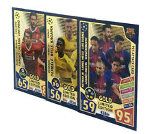2017 2018 Topps Match Attax Champions League PES GOLD LIMITED EDITION 3 cards