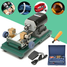 Pearl Drilling Holing Machine Driller Jewelry Punch Tools Full Set 110V 240W US