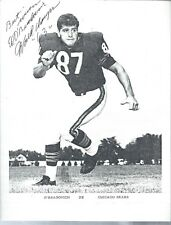 1963 World Champs Chicago Bears Ed O'Bradovich Autograph Signed Print