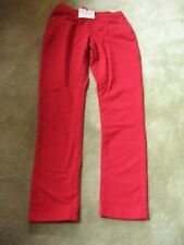 Pajama Jeans Women's Skinny XS Red Stretch Waist Pull On Knit Denim Jeans