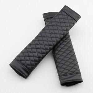 Black Car Seat Safe Belt Harnesses Shoulder Protector Cushion Cover Accessories