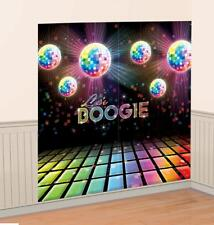 5ft Disco 70s 80s Theme Scene Setter Wall Decoration Photo Prop Birthday Party