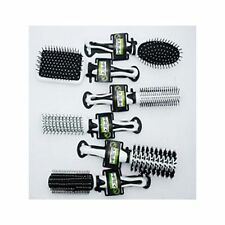 6 PRO HAIR BRUSH SET HAIR ACADEMY SALON QUALITY HAIRDRESSING RADIAL PADDLE STYLE