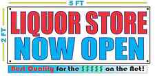 LIQUOR STORE NOW OPEN Banner Sign NEW Larger Size Best Quality for the $$$