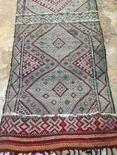 Moroccan rug Zemmour Kilim very long runner 585 x 106 cm