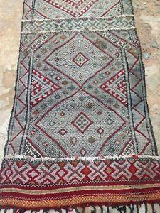 Moroccan rug Zemmour Kilim very long runner 585 x 106 cm