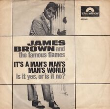 """JAMES BROWN IT'S A MAN'S MAN'S MAN'S WORLD RARE 1966 RECORD GERMANY 7"""" PS"""
