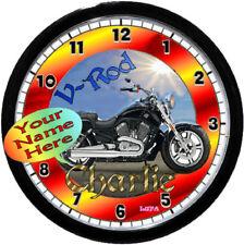 PERSONALIZED HARLEY DAVIDSON V-ROD WALL CLOCK