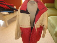 Men'S Descente Ski Snowboard Jacket M Medium Tan Red