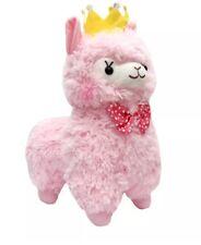 Large Cute Pink Princess Alpaca Doll 38cm Tall Kawaii Llama Fairy Kei Arpakasso