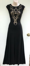 HOWARD SHOWERS Black Lace Bodice Stretch Evening Gown Formal Dress 6 NWT Rp $299