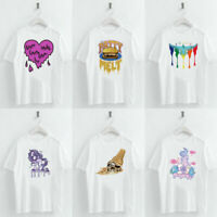 Harajuku Melt Print Female T Shirts Crew Neck Short Sleeve Loose Summer Casual